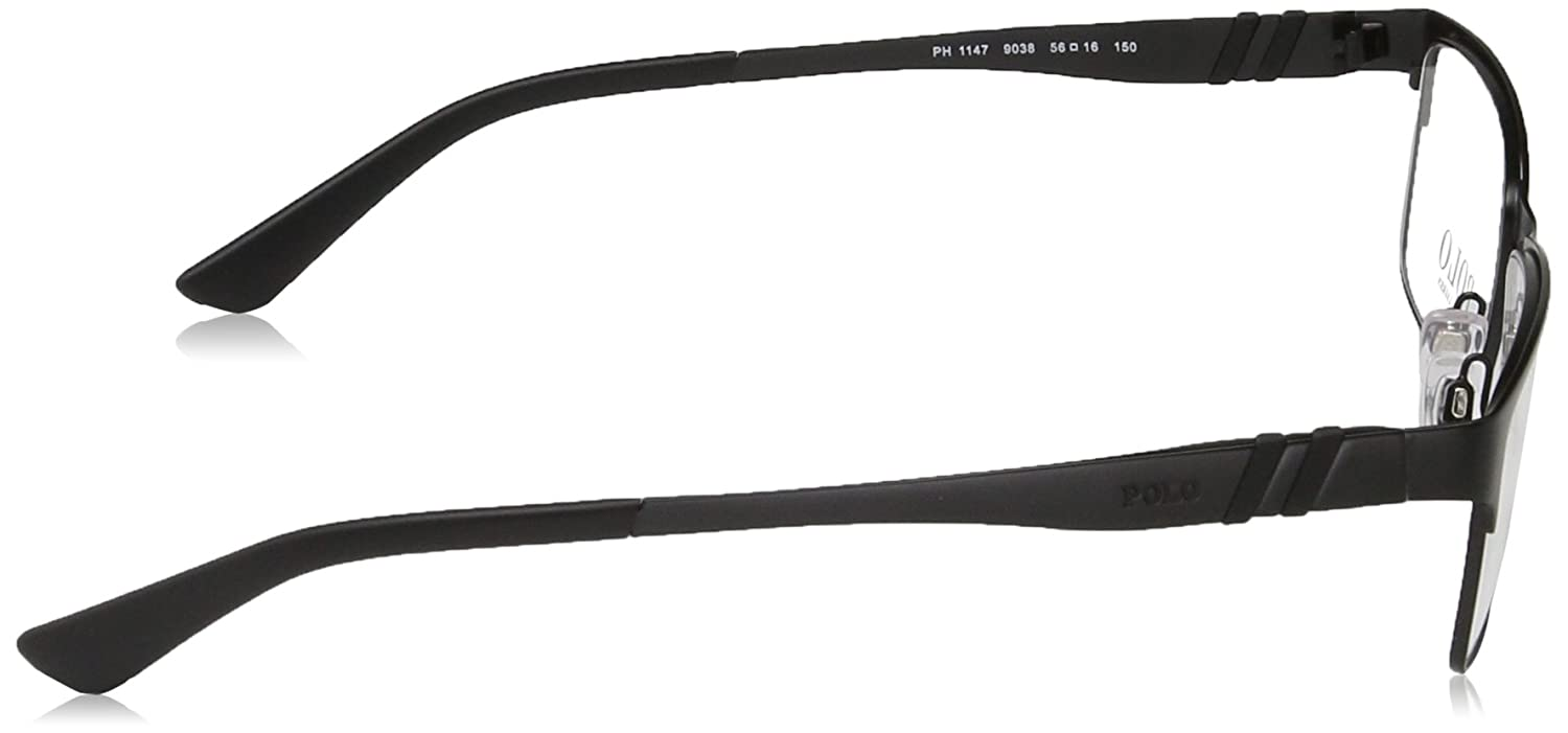 d5617ce474 Amazon.com  Eyeglasses Polo PH 1147 9038 MATTE BLACK  Clothing