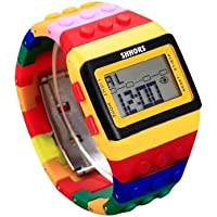 Zarup sencillo reloj de pulsera unisex digital arco iris