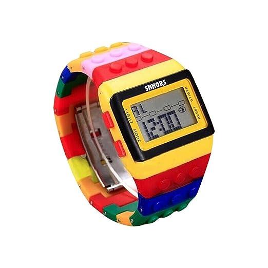 Zarup sencillo reloj de pulsera unisex digital arco iris: Zarup: Amazon.es: Relojes