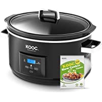 [NEW LAUNCH] KOOC 8.5-Quart Programmable Slow Cooker, Larger than 8 Quart, More Practical than 10 Quart, with Digital…