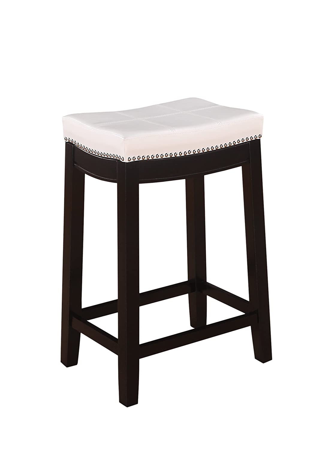 Amazon.com: Linon Claridge Patches Counter Stool, 26-Inch, White ...