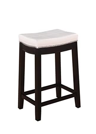 white metal counter stool with back patches inch antique backless stools leather