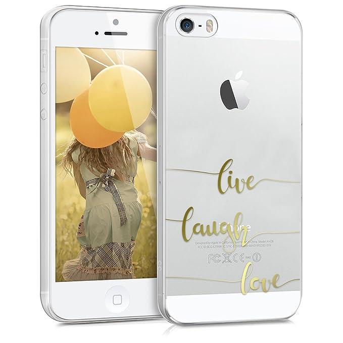 kwmobile Apple iPhone SE / 5 / 5S Hülle - Handyhülle für Apple iPhone SE / 5 / 5S - Handy Case in Gold Transparent