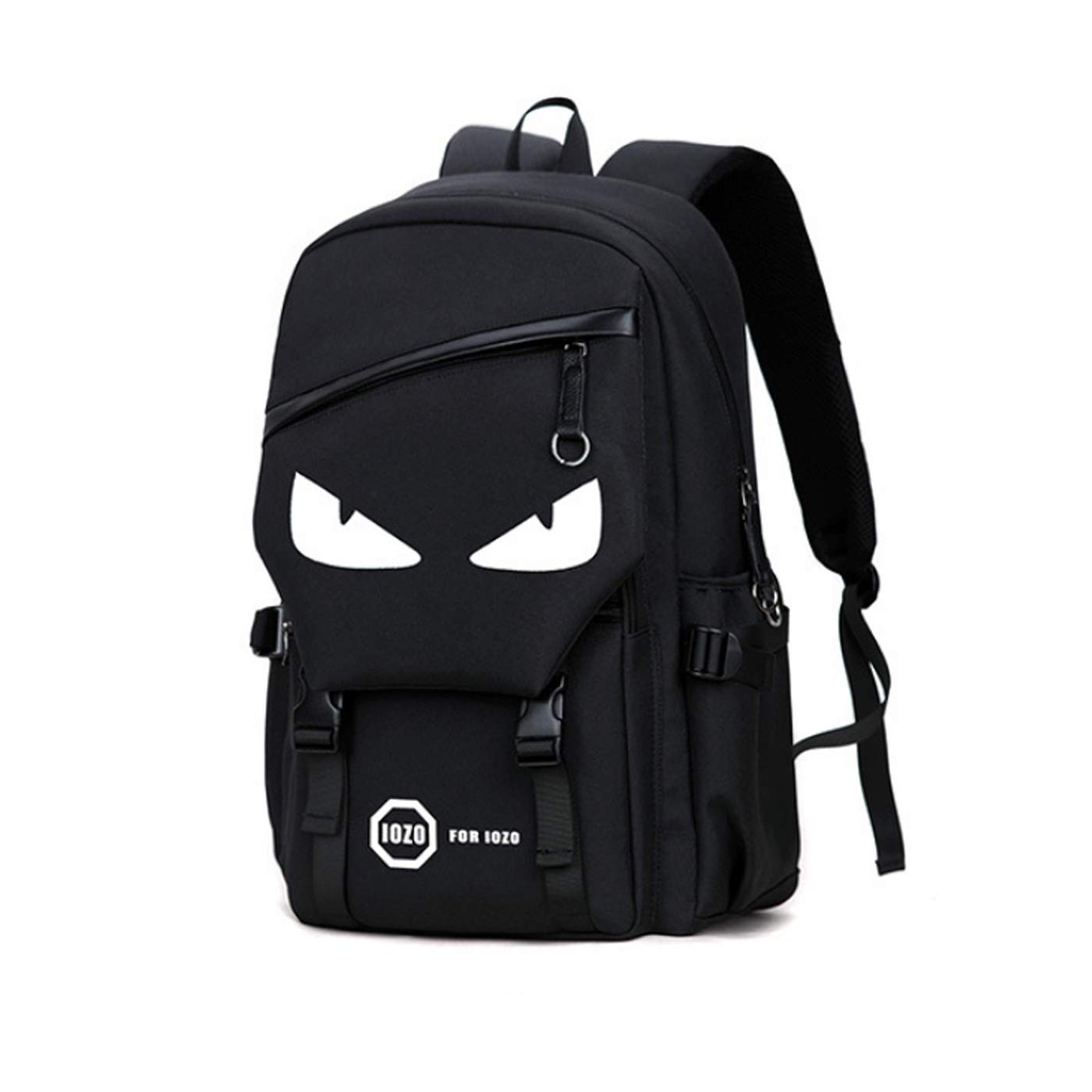 ULUIKY Luminous Backpack Canvas Cartoon Backpack USB Charging Port,Unisex Laptop Backpack Daypack Fashion School Backpack (A)