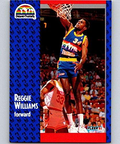 (1991-92 Fleer Basketball #54 Reggie Williams Denver Nuggets Official NBA Trading Card From Fleer/Skybox)