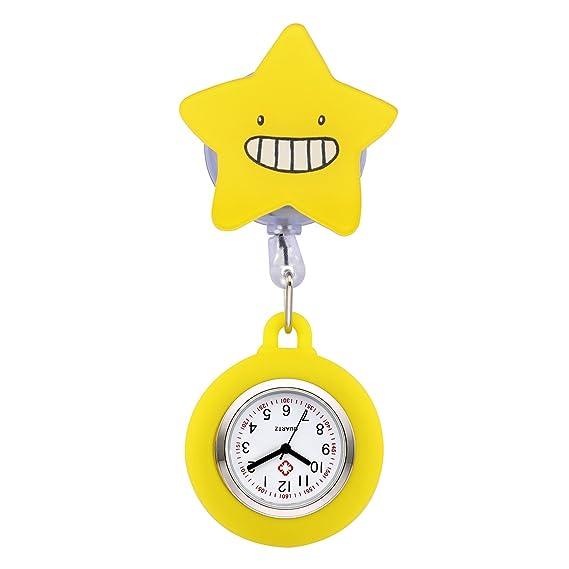 manifo Relojes Enfermeras FOB Reloj cuidado Reloj Pulso Reloj dibujos animados Estrella Bata Reloj silicona enfermera