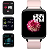 """feifuns Smart Watch,Fitness Tracker with Heart Rate/Blood Pressure/Oxygen Monitor,1.3"""" Waterproof Health Exercise Watch…"""