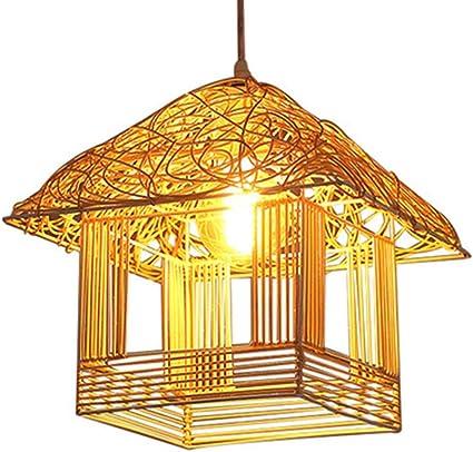 Lámpara colgante Restaurante Iluminación Personalidad de la moda Cabaña Araña de ratán Sala de estar Pasillo Dormitorio Iluminación creativa Producción: Amazon.es: Iluminación