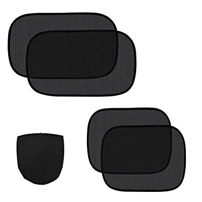 "ZATAYE Car Window Shade - 4 Pack Car Side Windows Sunshade for Baby,Car Sun Shades Protector,80 GSM for Maximum UV/Sun/Glare Protection for Kids,2 Pack 20""x12"" and 2 Pack 17""x14"": Automotive"