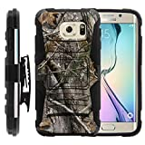 sprint galaxy edge - Galaxy S6 Edge Case, Galaxy S6 Edge Holster, Two Layer Hybrid Armor Hard Cover with Built in Kickstand for Samsung Galaxy S6 VI Edge SM-G925 (T Mobile, Sprint, AT&T, US Cellular, Verizon) from MINITURTLE | Includes Screen Protector - Tree Bark Hunter Camouflage