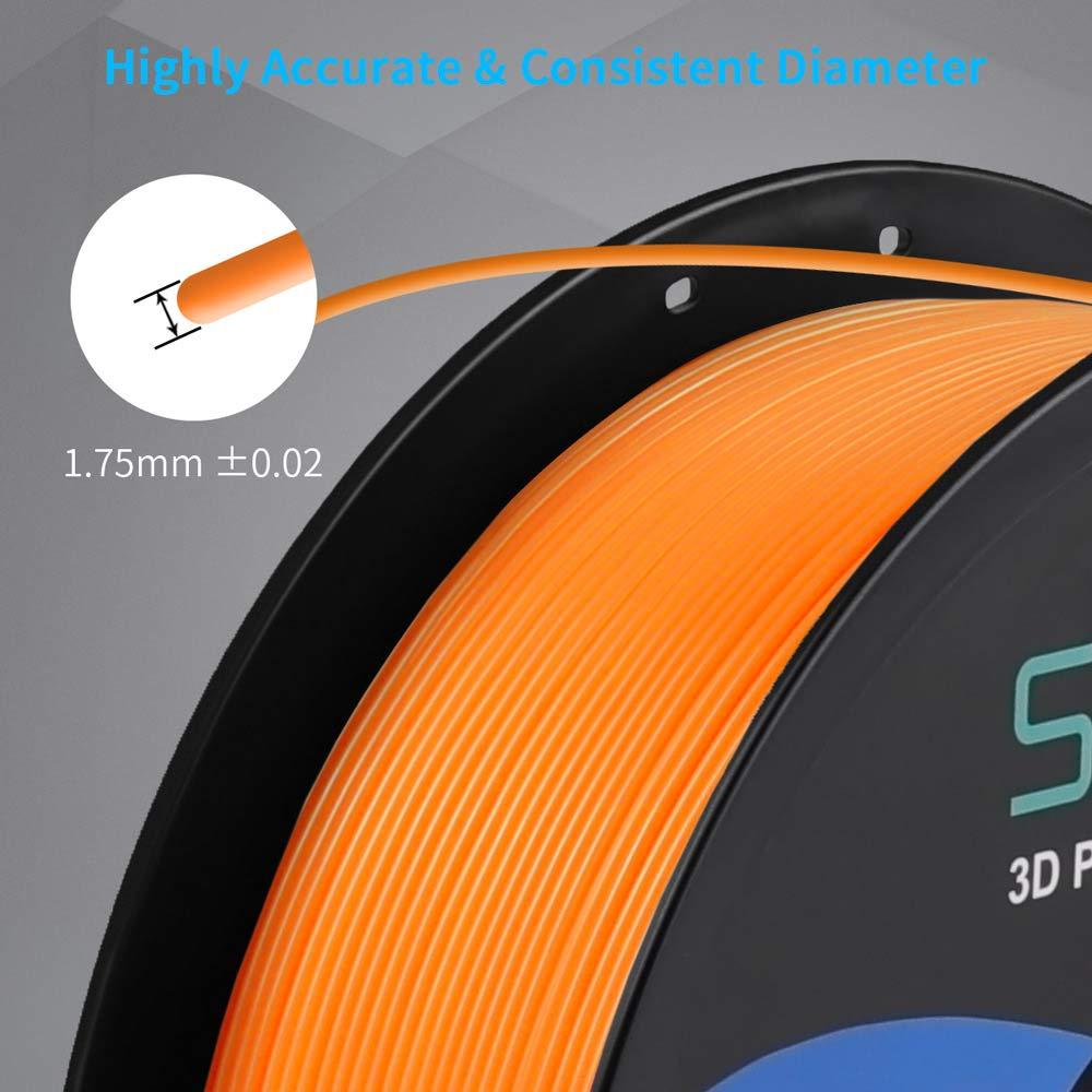 SUNLU Filamento PETG de 1.75mm con Carrete Sunlu Upgrade de 1kg Precisi/ón dimensional +//- 0.02mm se ajusta a la mayor/ía de las Impresoras FDM Amarillo 2.2lbs