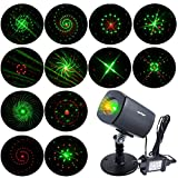 [ANTSIR Galaxy projector Light] Outdoor&Indoor Waterproof Red & Green Landscape Lights for New Year, Theme Party, Wedding, Night Club, Yard and Garde