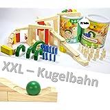 PLAYTIVE® JUNIOR Holz-Kugelbahn Cascade 35 teilig Echtholz NEU Holzspielzeug