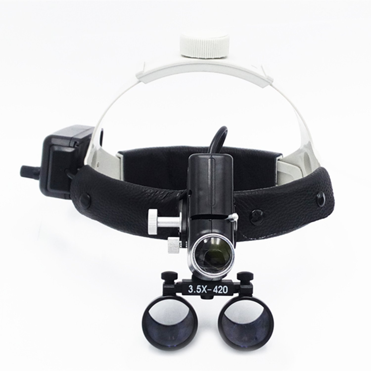 Ocean Aquarius 3.5X420mm Working Distance Headband Loupe With light Special Use For E.N.T Department DY-106(black)