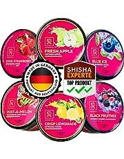 M. ROSENFELD Shisha-stenen nicotinevrij - [6x Shisha stoomstenen] Made in Germany nicotinevrije shisha tabak vervanging. Groene appel aardbei ijs watermeloen citroen mint blauwe bessen mix