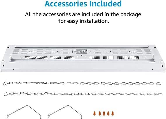 Amazon.com: Luz LED de alta bahía para tiendas, de 3.9 ft ...
