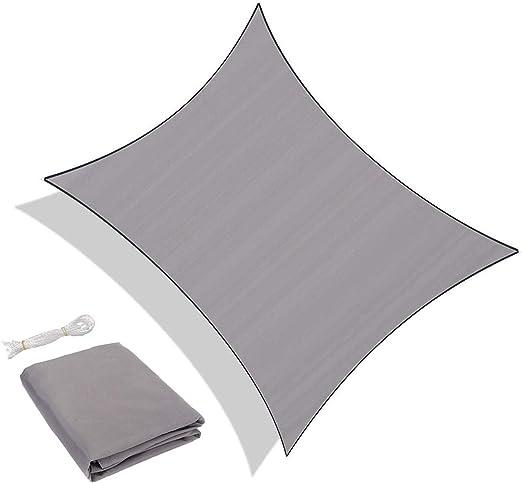 Impermeabile e Resistente per spazi allaperto Color Grigio Sunnylaxx Tenda a Vela Rettangolare 2 x 3 Metri