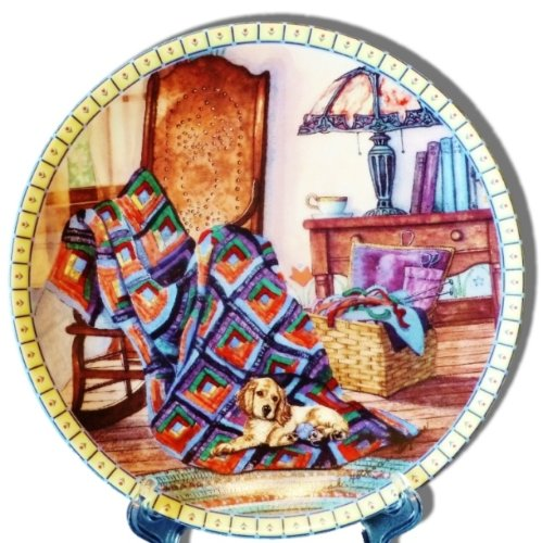 Warm Retreat Collector's Plate from the Cozy Country Corners Collection by Hannah Hollister Ingmire ()