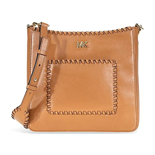 4db07fa04808 Michael Kors Gloria Whipstitched Leather Messenger Bag- Acorn   Amazon.co.uk  Shoes   Bags