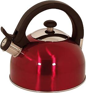 Magefesa 2.1-Quart Sabal Stainless Steel Tea Kettle, Red