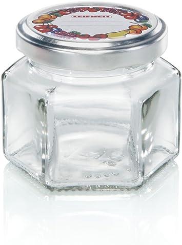 106 ml Bocal hexagonal Leifheit bocal de st/érilisation /à six facettes pot de rangement d/écoratif va au lave-vaisselle id/éal pour les conserves pour stocker de petites choses