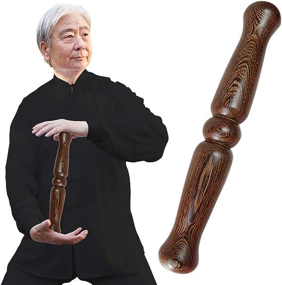 Taiji Martial Arts Stick Kungfu Stick Polished Solid Wood Shaolin Qigong Stick