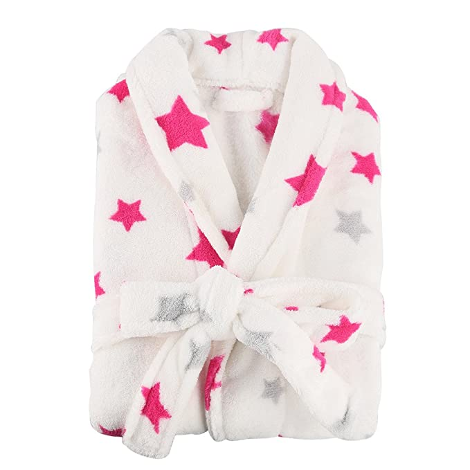 Diseño de chicas iSinotex diseño de estampado de Little golf para niños bata de forro polar para pijamas de dos bolsillos incluye funda de: Amazon.es: Ropa ...