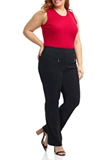 Rekucci Curvy Woman Ease in to Comfort Fit Barely Bootcut Plus Size ... 3e6ba1d70f0c