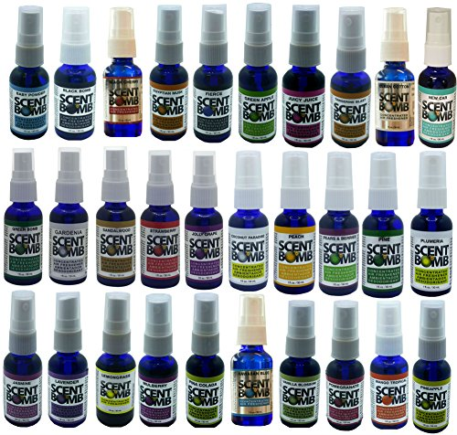 Limited Edition Scent Bomb Concentrated Air Freshener 36 Different Fragrance Pack by Scent Bomb