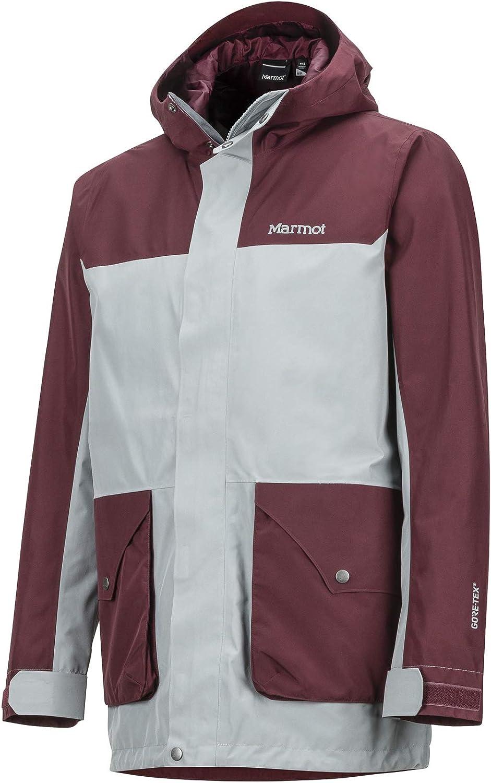 S Marmot Mens Wend Hardshell Rain Jacket Raincoat Waterproof Windproof Breathable Grey Storm//Burgundy