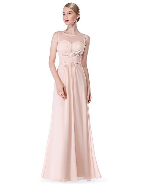 51921e4e84ee Ever-Pretty Abiti da sposa da donna in chiffon lungo a linea Arrossire 36EU