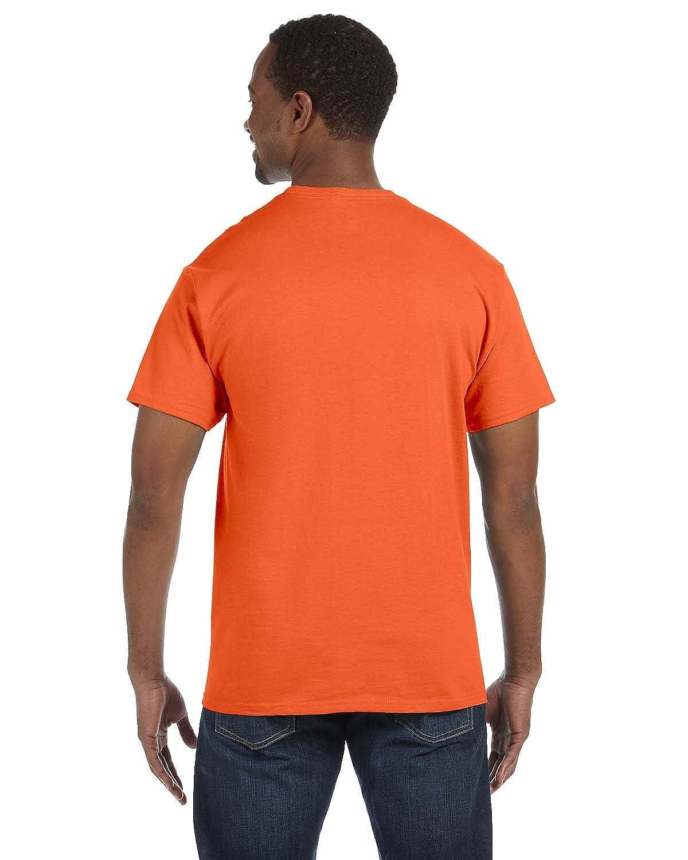 3XL - Athletic Orange By Hanes Hanes Mens 61 Oz Tagless T-Shirt Style # 5250T - Original Label