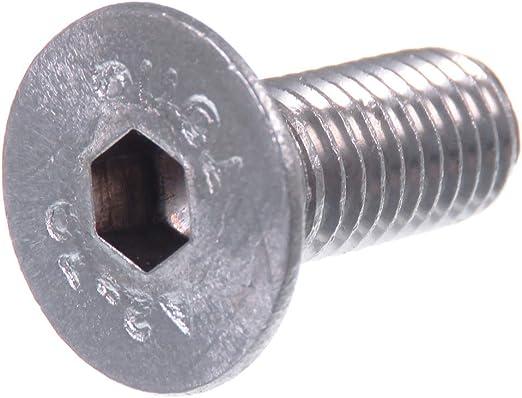 DIN 7991 // ISO 10642 acier inoxydable V2A VA A2 /à six pans creux Vis /à t/ête frais/ée SECCARO M6 x 14 mm 20 pi/èces
