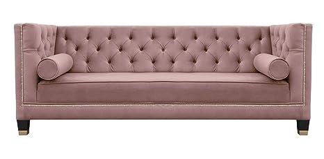 Belle Fierté Rosa Elegante 3 plazas Chesterfield sofá de ...