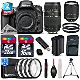 Holiday Saving Bundle for D610 DSLR Camera + 18-140mm VR Lens + Tamron 70-300mm Di LD Lens + 2yr Extended Warranty + 32GB Class 10 Memory + Macro Filter Kit + 16GB Class 10 - International Version