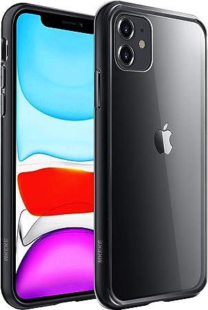 Mkeke Compatible avec iPhone 11, coque transparente pour 6,1