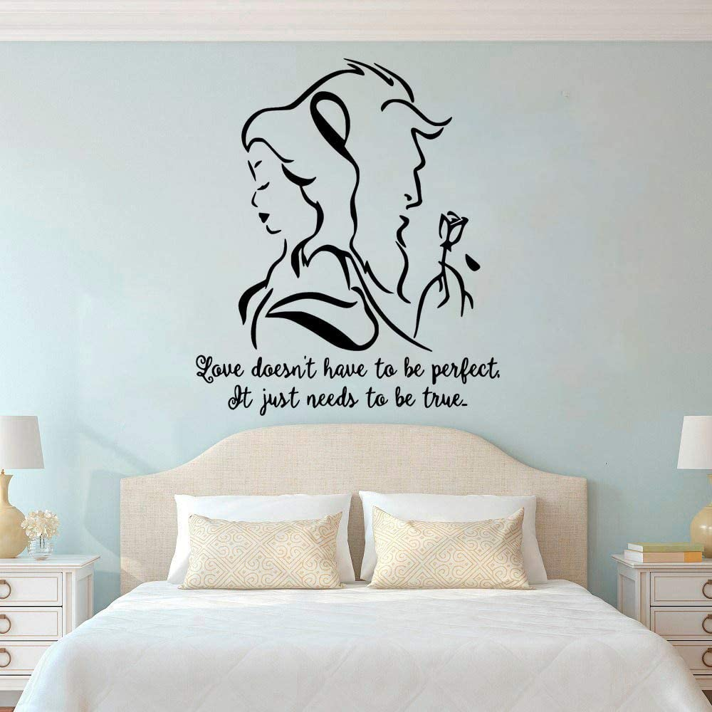 Disney beauty and the beast vinyl wall//window//car stickers decor//decals room