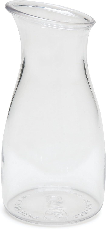 Carlisle 7090007 Cascata Carafe Juice Jar Beverage Decanter Only, Plastic.25 L, Clear