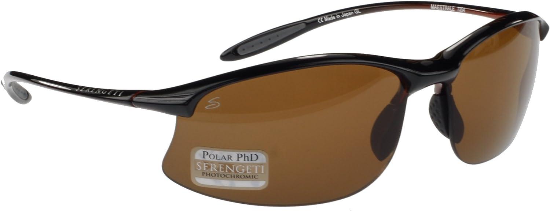 Serengeti Maestrale ligeras gafas de sol, Negro Brillante ...