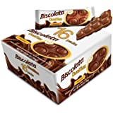 Biscolata Duomax Hazelnut Chocolate Wafer Bar Snack Cookies (16 pack - 32 Pieces)