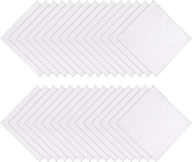 30 Paquete Pañuelo de Algodón Blanco Suave de Mujer Pañuelos de ...