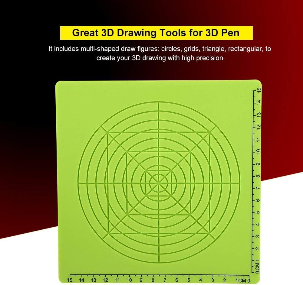 3D Druckstifte Matte Druckstift Silikon Design Matte Zubeh/ör A Typ Druckstift Zeichenvorlage Pad 3D Stift Pad Silikon Vorlage