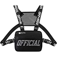 Trido Universal Chest Rig Bag Adjustable Functional Shoulder Pack Walkie Talkie Harness Radio Holster Holder for Men…