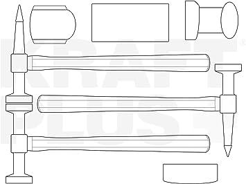 KRAFTPLUS/® K.872-4010 Juego de martillos desabollar para carrocer/ías 7 piezas