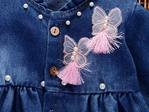 Toddler Baby Girls Cute Coat Clothes Long Sleeve Denim Jacket Kids Princess Outerwear