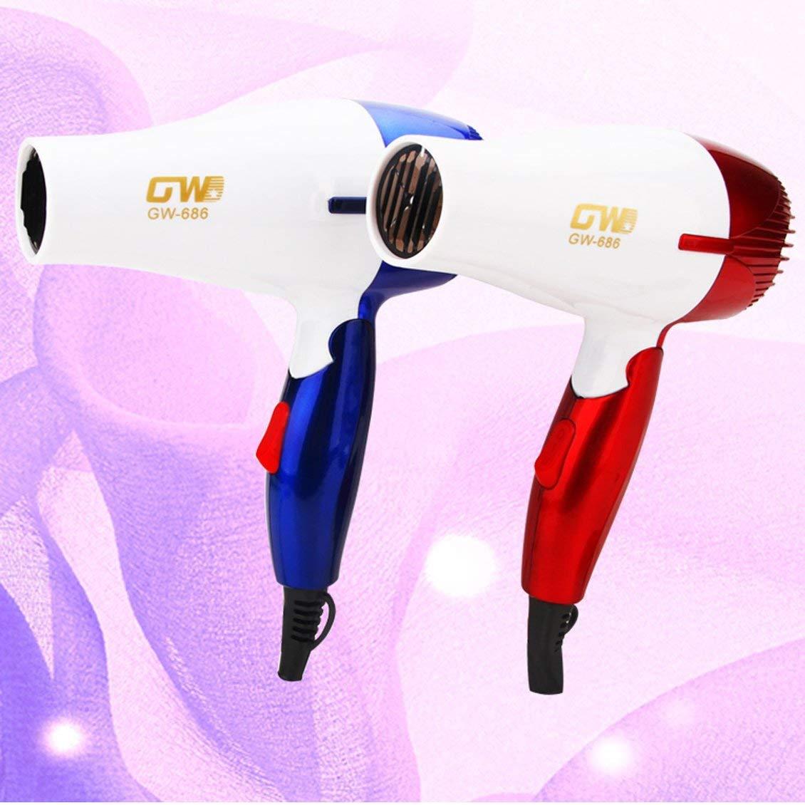 GW-686 1 Unid Mini Secador de Cabello Portátil Plegable Compacto Viajero Viajero Blower de bajo consumo Estudiantes de la escuela Soplador de aire: ...