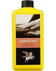 Lederöl, 500 ml für alle Glattleder, Sattelzeug, Motorrad und Arbeitskleidung, Leather Oil light