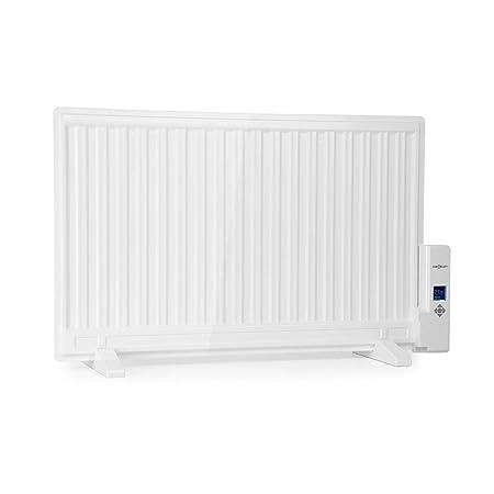 Oneconcept Wallander • Radiador de Aceite • Calefactor de Aceite • 800 W • Termostato Regulable • Pantalla LED • Delgado • Anticalentamiento • ...