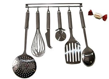 Küchenhelferleiste Küchenhelfer Set 7-tlg. Kochbesteck Set ... | {Kochbesteck 3}