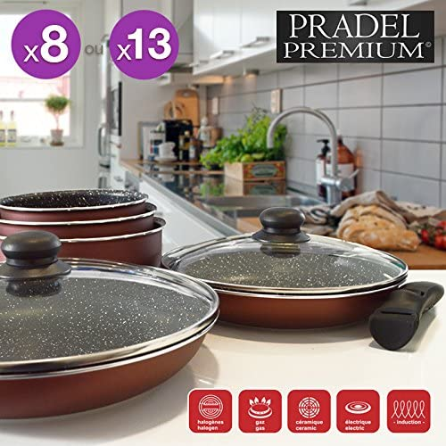 Pradel Premium Top Shop Kitchen Rechargeable 13 Pieces 7 Pans